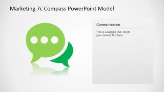 PowerPoint Communication Icon Slide Design 7Cs Model