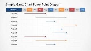 Gantt Chart for PowerPoint Business Pictures for Presentation