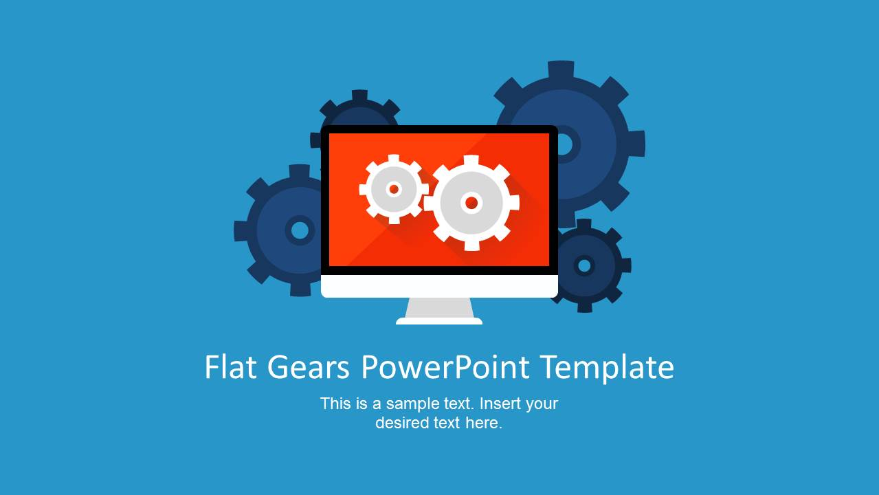 Modern flat gears powerpoint template slidemodel display shape for powerpoint with gears toneelgroepblik Image collections