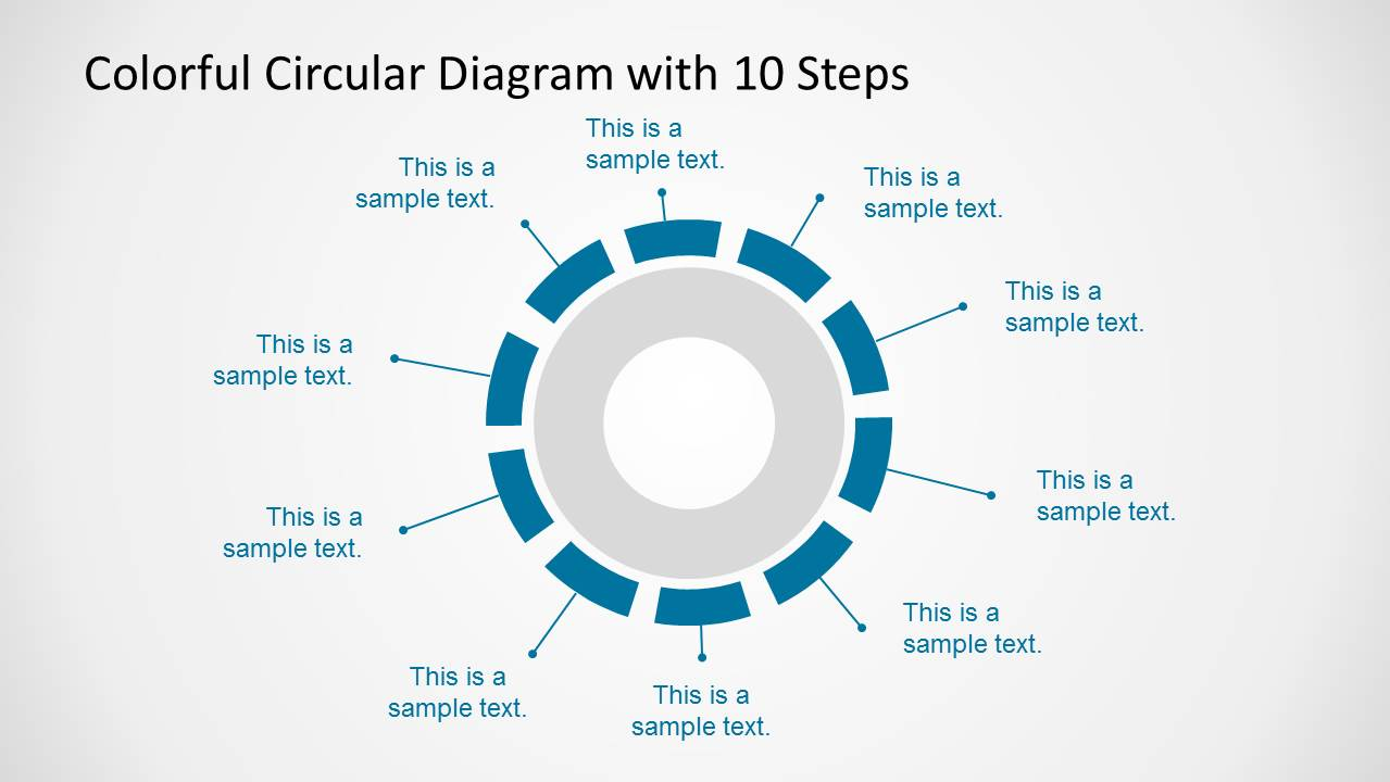 10 Elements Circular Diagram Design for PowerPoint
