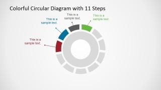 11 Steps Circular Process Diagram