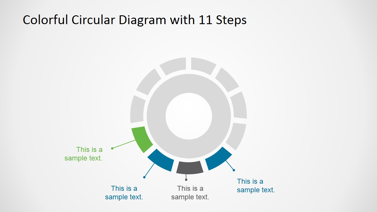 Circular Diagram 11 Steps for PowerPoint