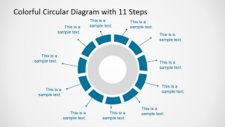 Professional 11 Steps Circular Diagram for PowerPoint