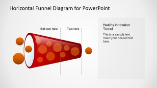 PowerPoint Horizontal Healthy Funnel Diagram