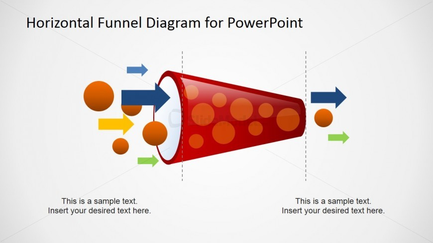 Flow through Healthy Flat Design PowerPoint Funnel Diagram