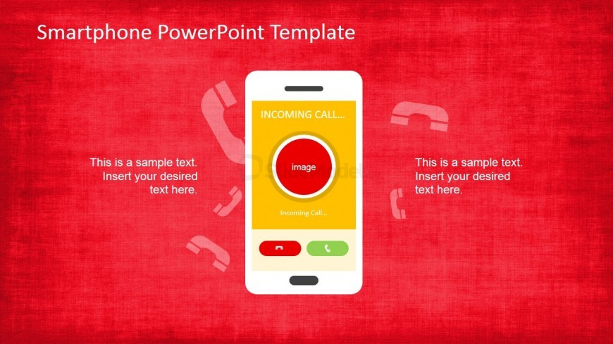 PowerPoint Smartphone Shape with Application in screen