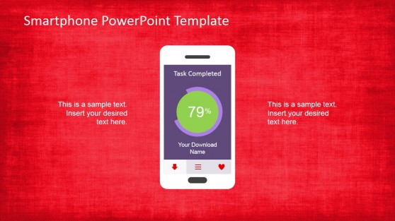 Smartphone with Shape Application PowerPoint Slide