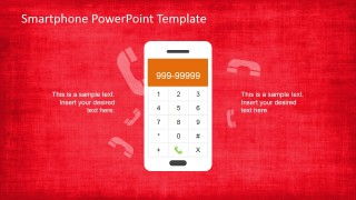 Smartphone PowerPoint Shape with Calculator Application