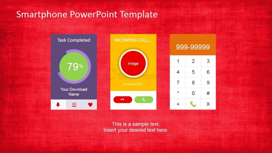 PowerPoint Shapes Featuring Smartphone Apps