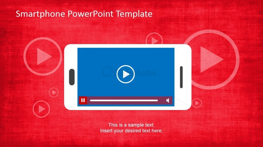 Slide with Landscape PowerPoint Smartphone Shape