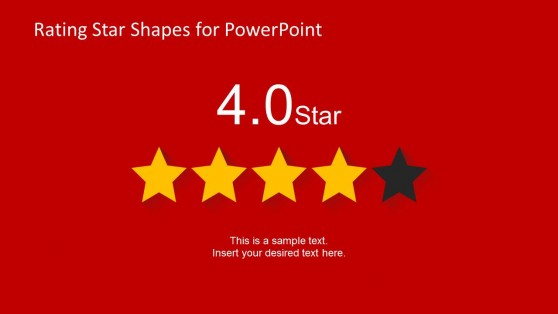 4 Stars Slide Design for PowerPoint