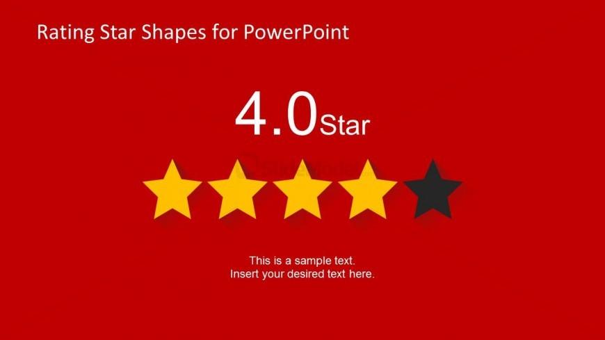 4 Stars Slide Design for PowerPoint