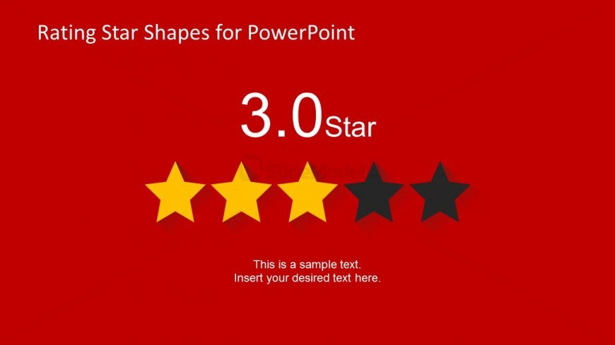 3 Stars Slide Design for PowerPoint