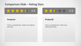Two PowerPoint Comparison Tables with Review Ratings