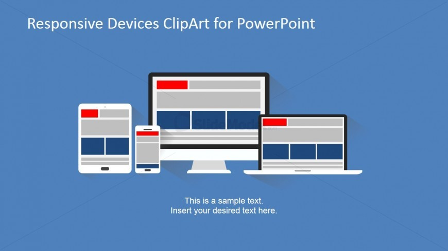Responsive Devices Clipart PowerPoint Shapes