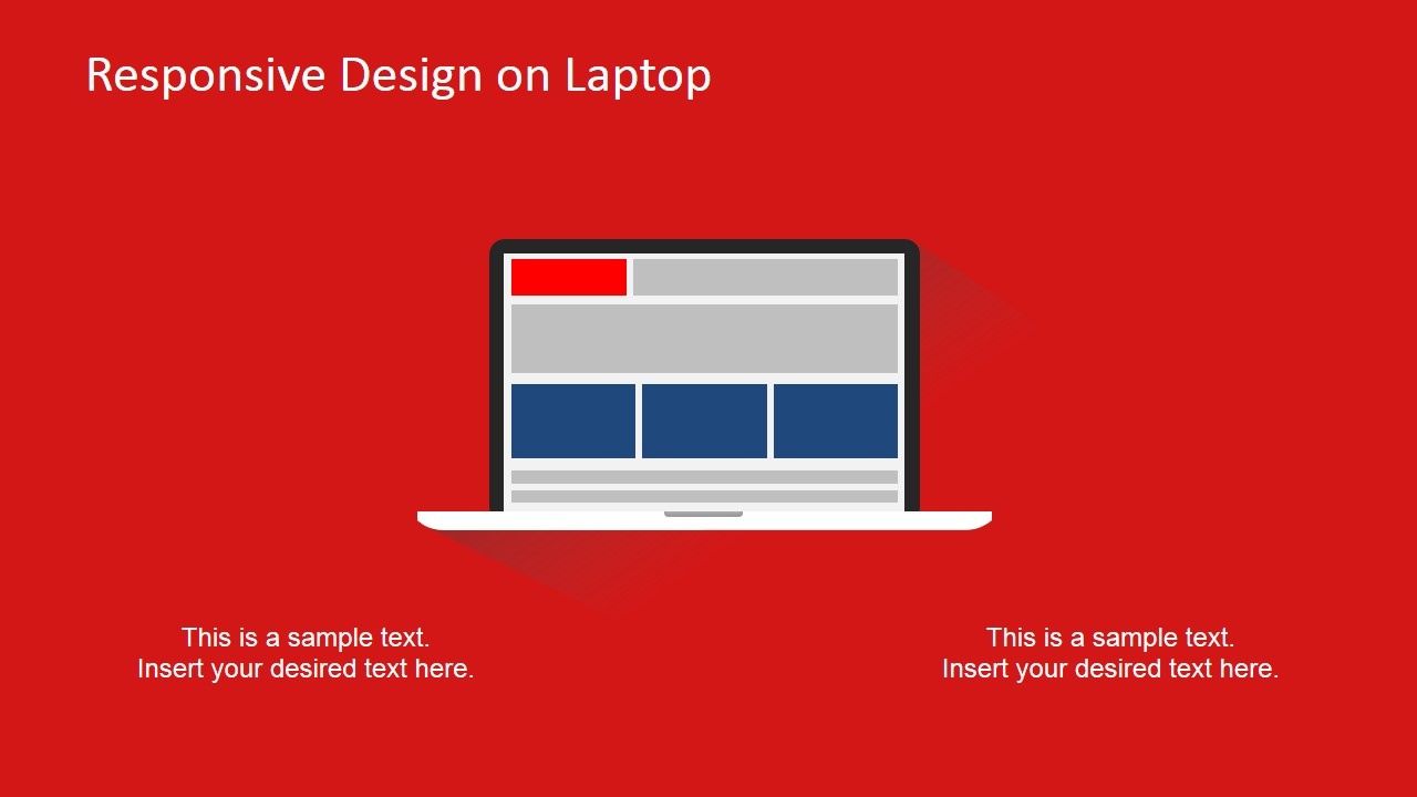 Laptop Responsive Devices Clipart PowerPoint Slide