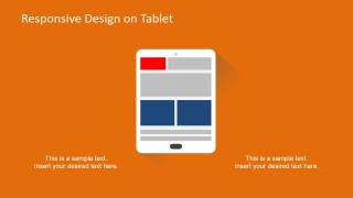 PowerPoint Responsive Devices Clipart of Tablet