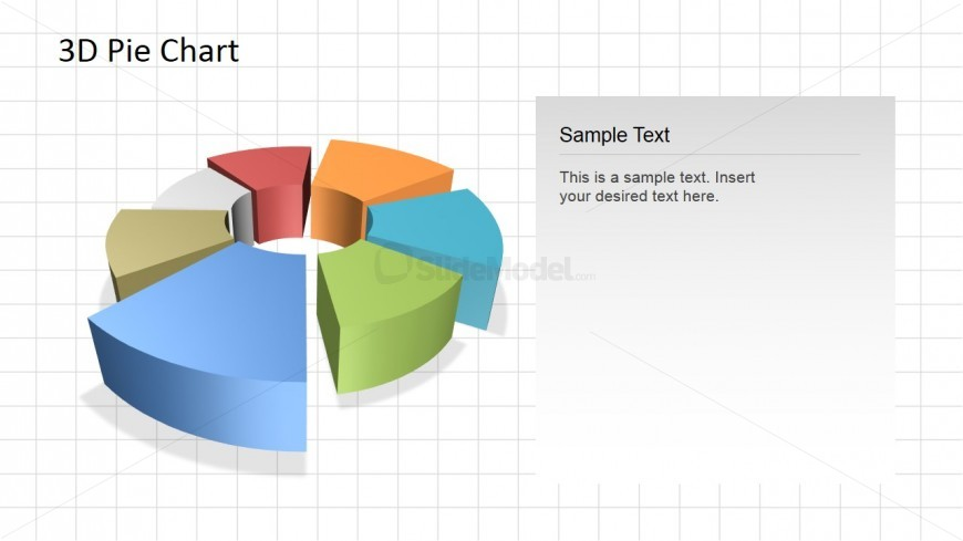 Editable 3d donut chart for powerpoint slidemodel
