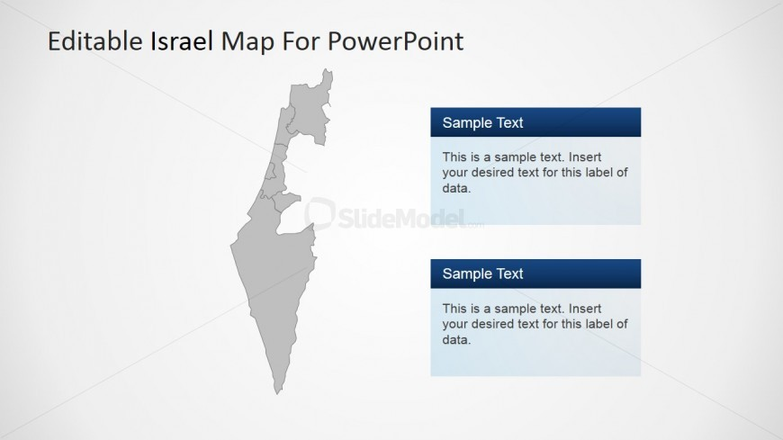 PowerPoint Editable State of Israel Map