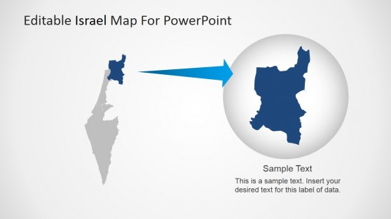 Individual State Highlight PowerPoint Israel Map