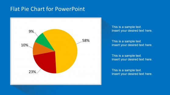Creative Flat Pie Chart Diagram for PowerPoint