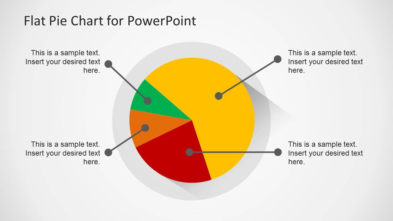 flat pie chart template for powerpoint slidemodel