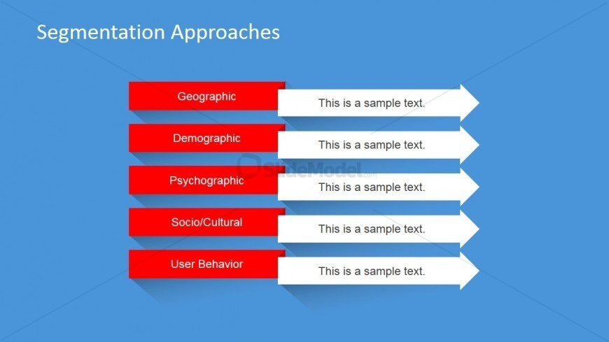 PowerPoint Slide with Segmentation Alternatives
