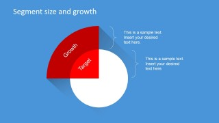 PowerPoint Slide Describing Segment Target and Growth