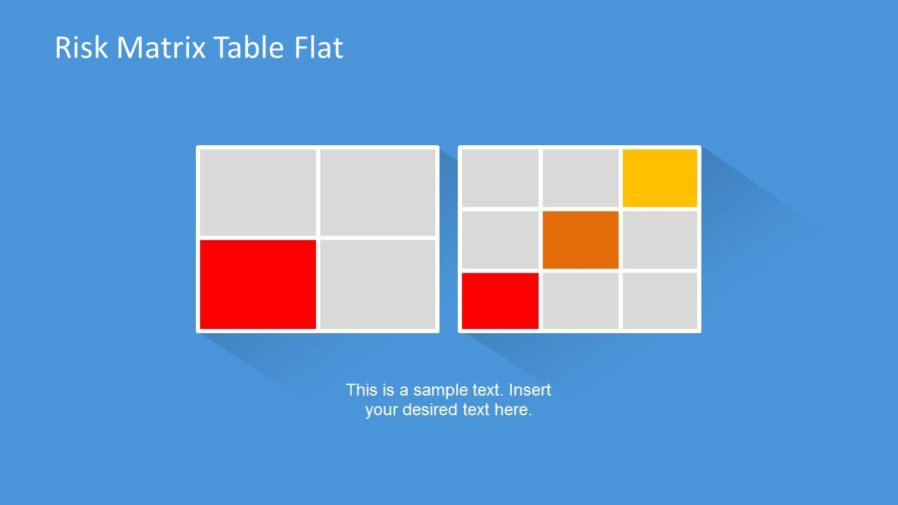Risk Matrix Template For Powerpoint With Flat Style Slidemodel
