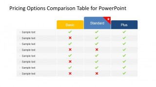 PowerPoint Table with Features Comparison