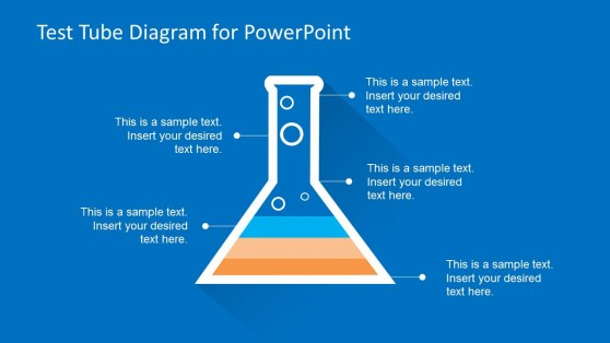 Test Tube Layered Diagram for PowerPoint