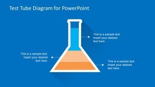 Multi-Level Test Tube Diagram for PowerPoint