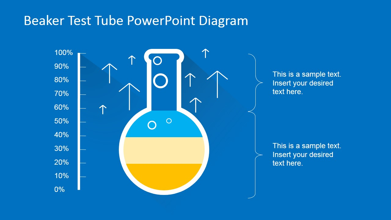 Measuring Success Using Powerpoint Test Tube Chart