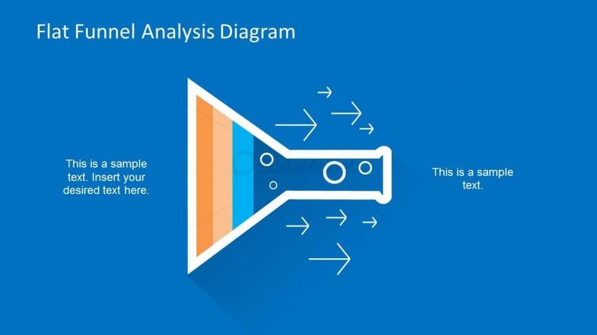 Horizontal Funnel Diagram PPT Slide Design with Arrows & Bubbles