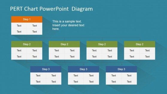 Three Level PERT Chart for PowerPoint