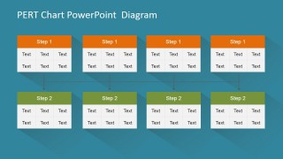 PowerPoint PERT Chart Diagram Concurrent Nodes