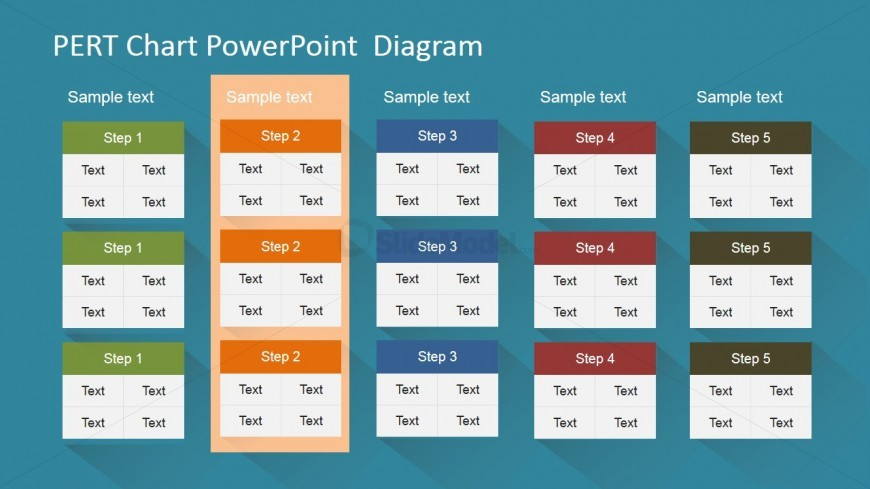 PowerPoint PERT Chart with Highlight