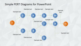PERT Diagrams Statistical Tool For Project Management Presentations