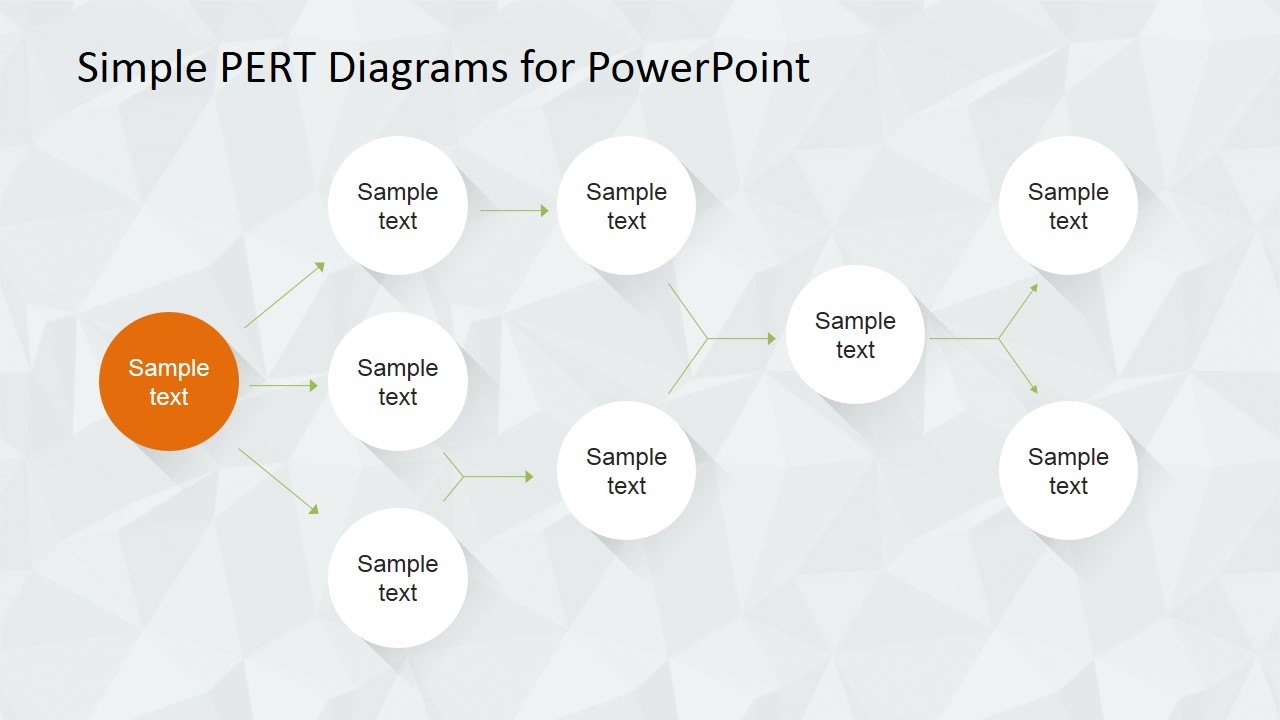 Simple Pert Diagram For Powerpoint