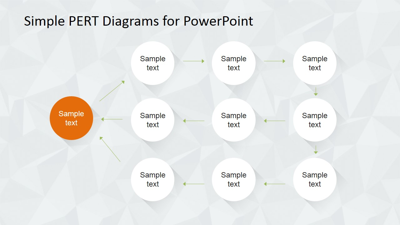 Simple pert diagram for powerpoint slidemodel powerpoint easy to use pert diagram template ccuart Gallery