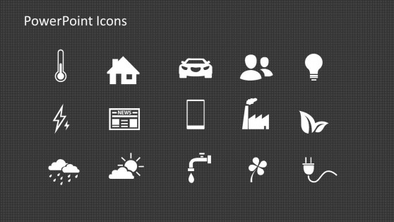 Energy PowerPoint Icons for Presentations