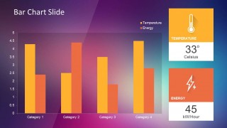 Bar Chart Slide Design with Violet Background and KPI indicators