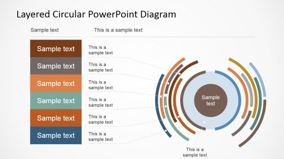 Table and Circular Staged Diagrams for PowerPoint