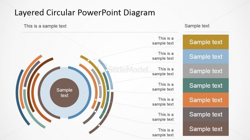 PowerPoint Presentation with Circular Diagram