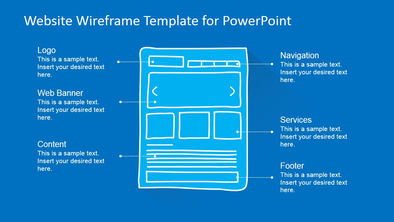 website wireframe template for powerpoint - slidemodel, Modern powerpoint
