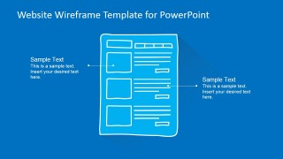 PowerPoint Template Wireframe of Blog Layout