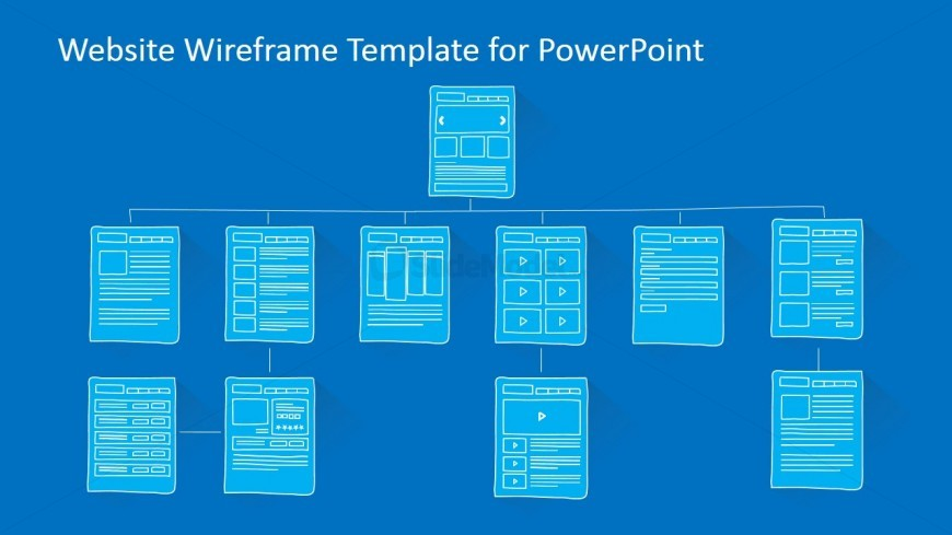 Website sitemap powerpoint template slidemodel for Powerpoint sitemap template