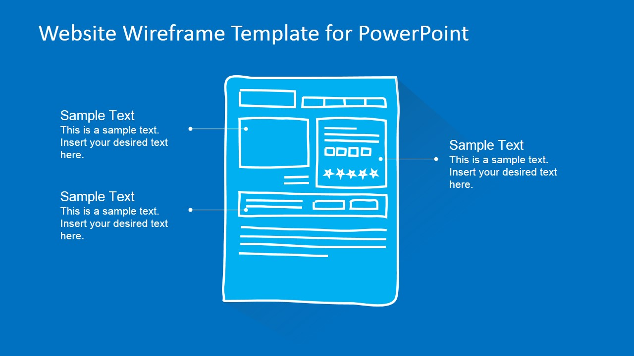 website wireframe template for powerpoint slidemodel