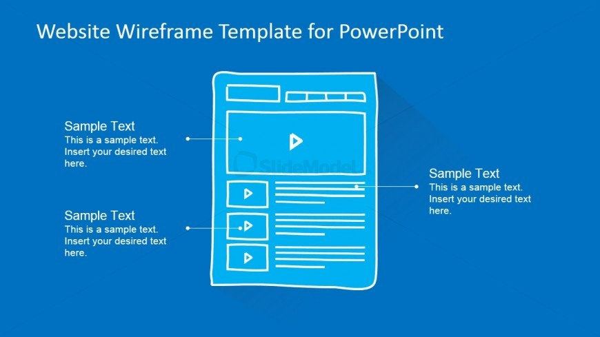 PowerPoint Mockup of Video Website Page