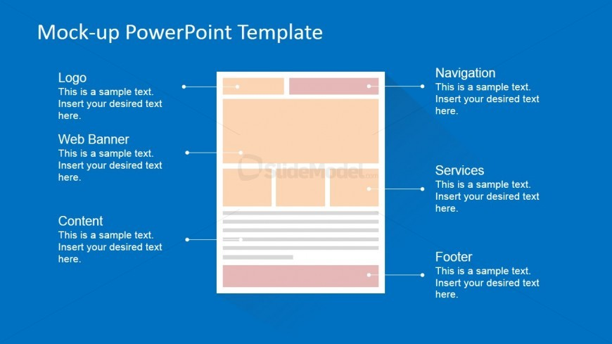 PowerPoint Webpage Wireframe
